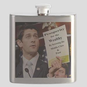 Paul Ryan Screw Working Class Budget copy Flask