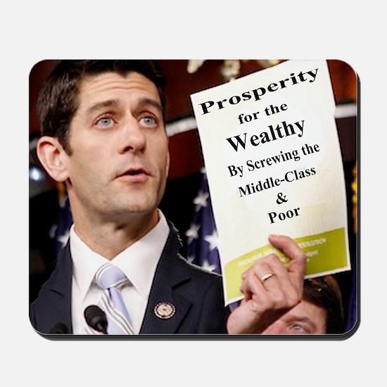 Paul Ryan Screw Working Class Budget cop Mousepad