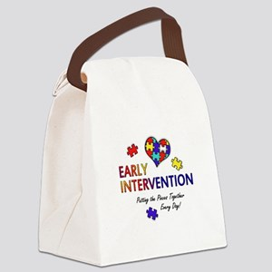 earlyintervention-button Canvas Lunch Bag