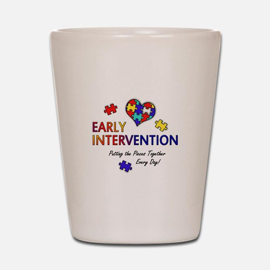 earlyintervention-button Shot Glass