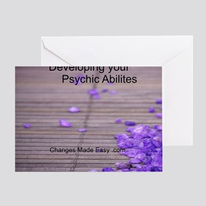 developing your psychic abilities Greeting Card