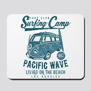 Surfing Camper Mousepad