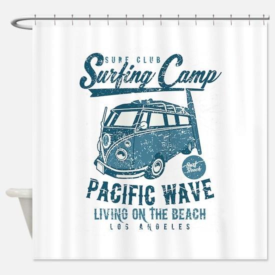 Surfing Camper Shower Curtain