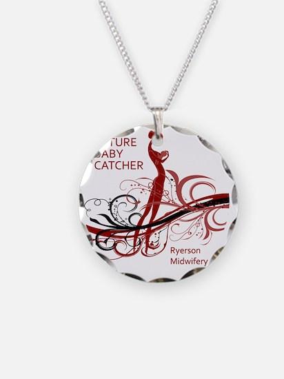 ryerson midwifery reds Necklace Circle Charm
