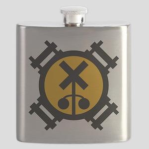 railfan-emblem-shirt Flask