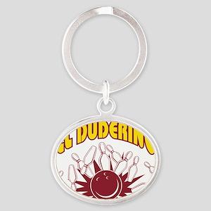 bowl63dark Oval Keychain
