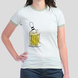 bowl55dark Jr. Ringer T-Shirt