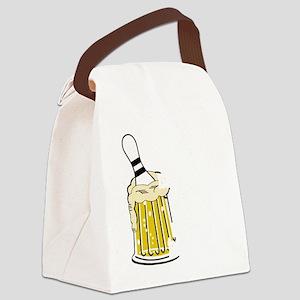 bowl55dark Canvas Lunch Bag