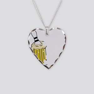 bowl55dark Necklace Heart Charm