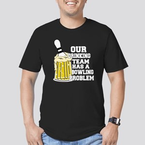 bowl55dark Men's Fitted T-Shirt (dark)