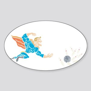 bowl31black Sticker (Oval)
