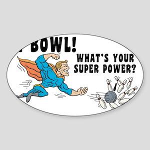 bowl31light Sticker (Oval)