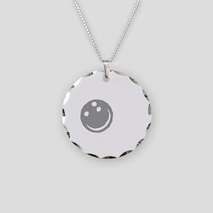 bowl64dark Necklace Circle Charm