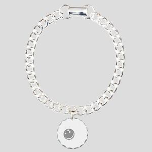bowl64dark Charm Bracelet, One Charm