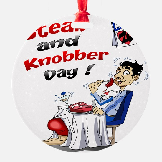 Steak and Knobber Day Logo Ornament