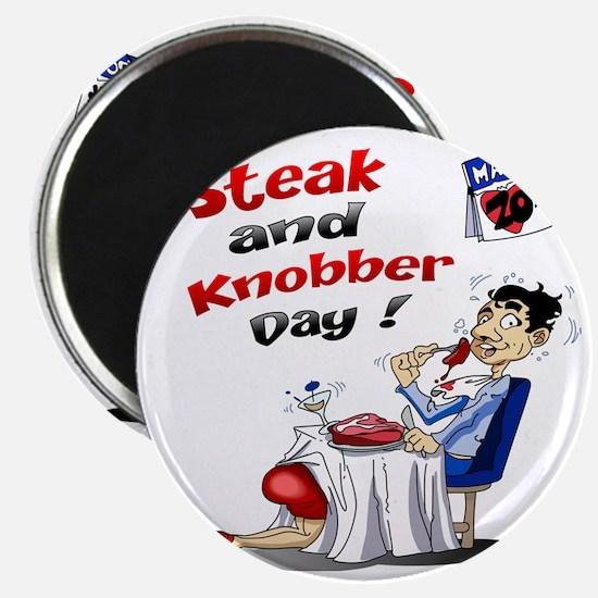 Steak and Knobber Day Logo Magnet
