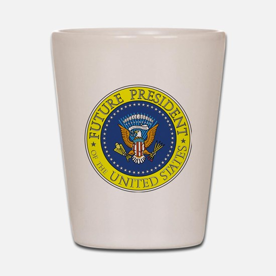Future-President-6X6 Shot Glass