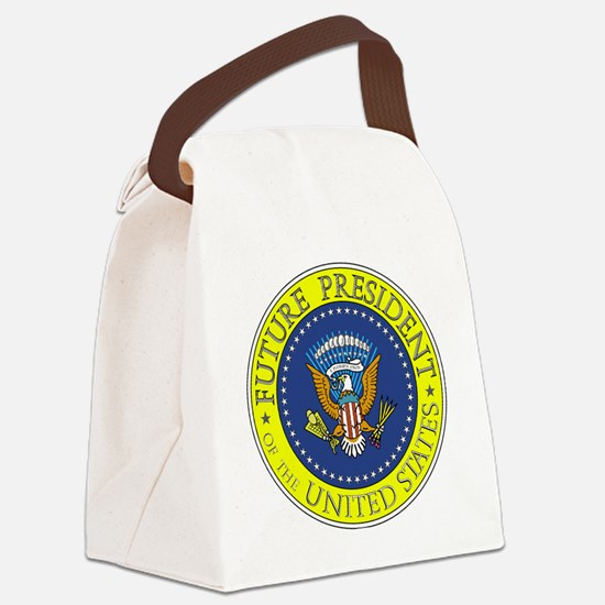 Future-President-6X6 Canvas Lunch Bag