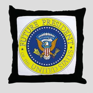 Future-President-6X6 Throw Pillow