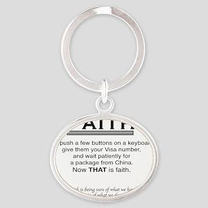 Faith Oval Keychain
