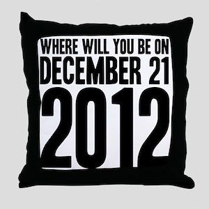 December 21 W Throw Pillow