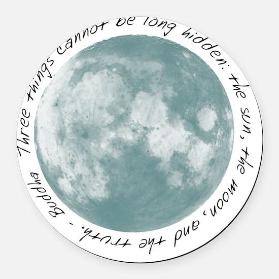 Buddha-Moon Round Car Magnet