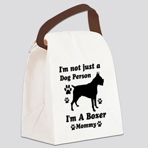 boxer_mommy Canvas Lunch Bag