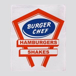 burger-chef-sign Throw Blanket