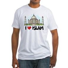 I Love Islam Fitted T-Shirt