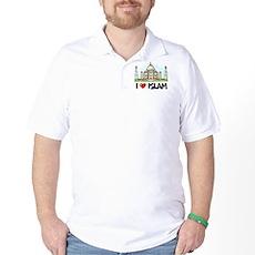 I Love Islam Golf Shirt