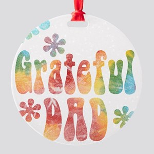 the_grateful_dad Round Ornament