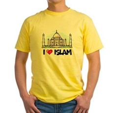 I Love Islam Yellow T-Shirt
