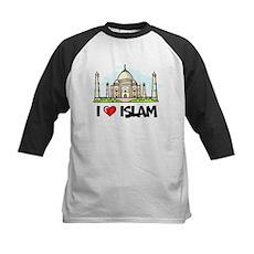 I Love Islam Kids Baseball Jersey