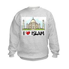 I Love Islam Kids Sweatshirt