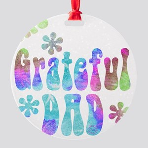 the_grateful_dad_3 Round Ornament
