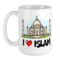 I Love Islam Large Mug