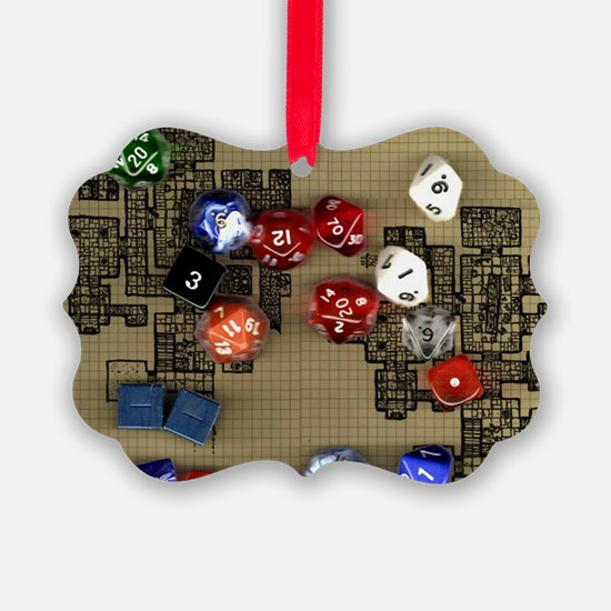 Dice and RPG dungeon map Ornament