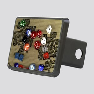 Dice and RPG dungeon map Rectangular Hitch Cover