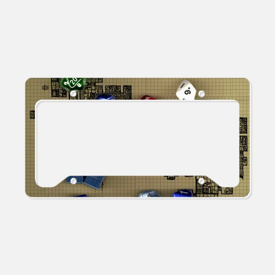 Dice and RPG dungeon map License Plate Holder
