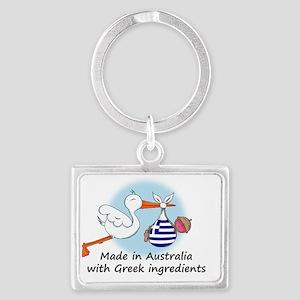 stork baby greece aus Landscape Keychain