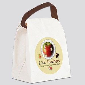 ESEteachers-button Canvas Lunch Bag