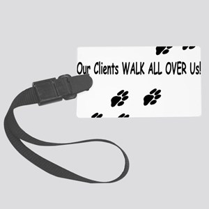 Playful Paws Apparrel Back Large Luggage Tag