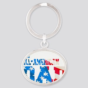 all_american_dad Oval Keychain