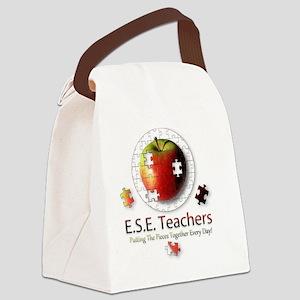 ESEteachers-button-nobg Canvas Lunch Bag