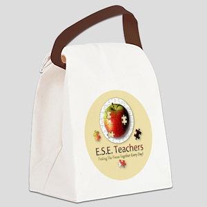 ESEteachers-button Canvas Lunch Bag