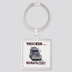 Red Peterbilt(Trucker..Will Work F Square Keychain