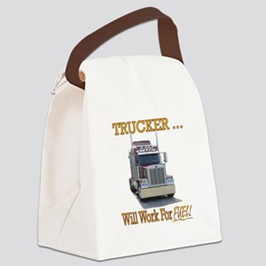 Red Peterbilt(Yellow Words,Trucke Canvas Lunch Bag