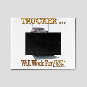 Red Peterbilt(Yellow Words,Trucker.. Picture Frame