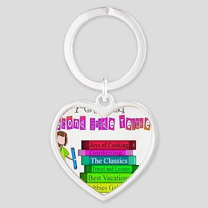 Retired 2nd Grade Teacher 2011 Heart Keychain