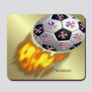 Fire Football Mouse Pad